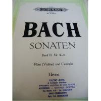 Bach Sonaten Band II : Nr 4-6 Violine und Cembalo Urtext - Edition Peters