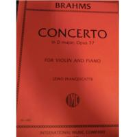 Brahms CONCERTO in D majot, Opus 77 For Violin and Piano (Zino Francescatti) - International Music Company