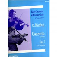 Easy Concertos and Concertinos for Violin and Piano Op. 7 Concerto in E minor - Bosworth