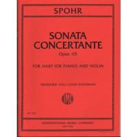 Spohr Sonata Concertante Opus 115 For Harp and Violin Marjorie Call Louis Kaufman - International Music Company