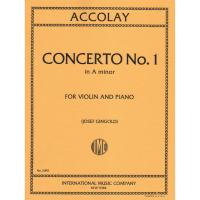 Accolay Concerto n. 1 in A minor For Violin and Piano (Josef Gingold) - International Music Company