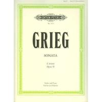 Grieg Sonata for Violin and Piano C Minor Op. 45 - Edition Peters